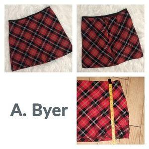 Vintage Iconic A. Byer Plaid Mini Skirt